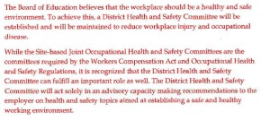 Motion from HR: New Health and Safety wording