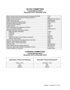2013 - 2014 Trustee Assignments