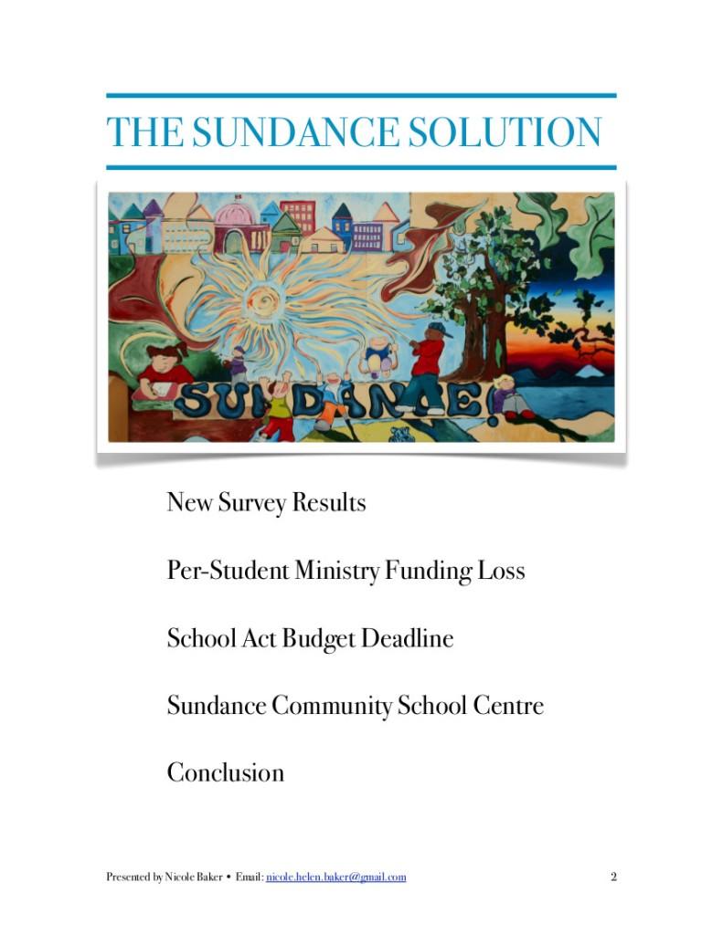 Sundance Report 1