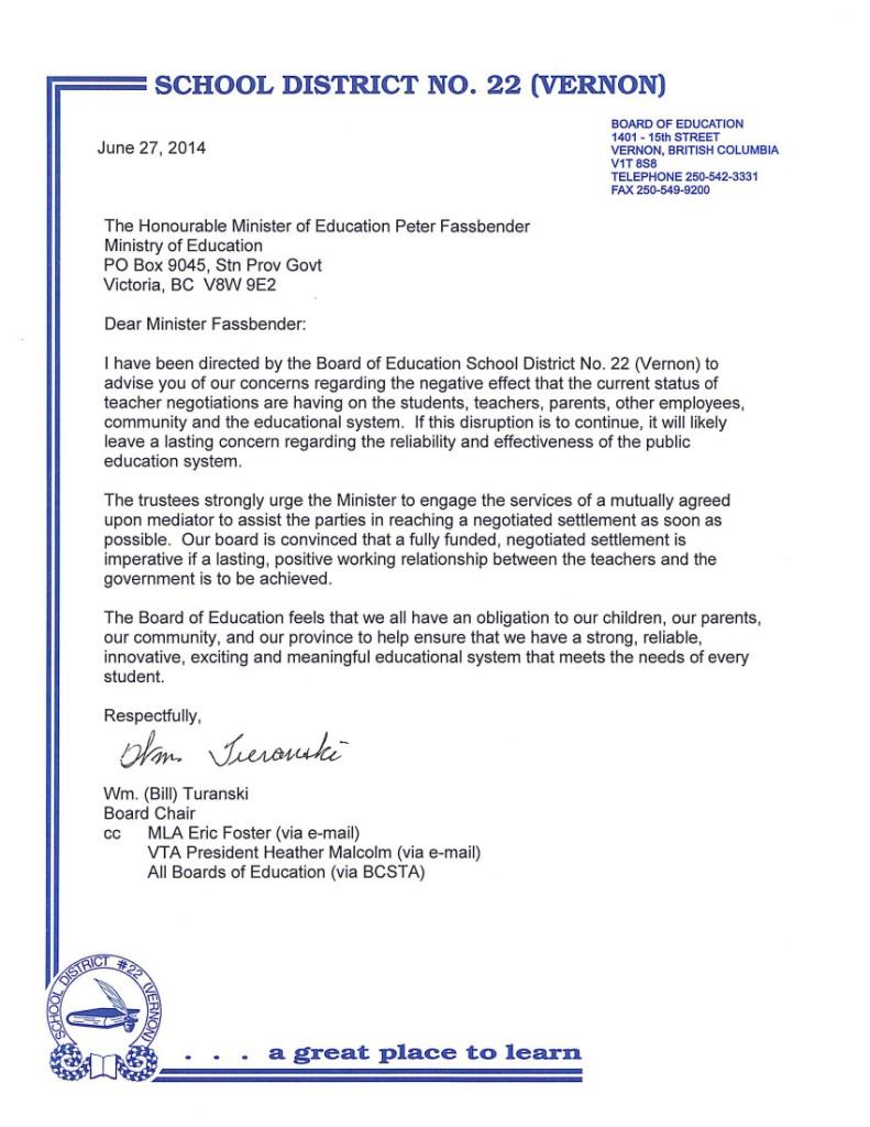 2014-06-26 B.Turanski, SD22 Vernon to P.Fassbender-- bargaining