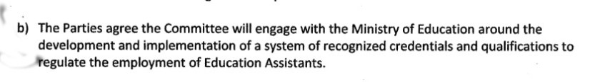 EA committee credentials