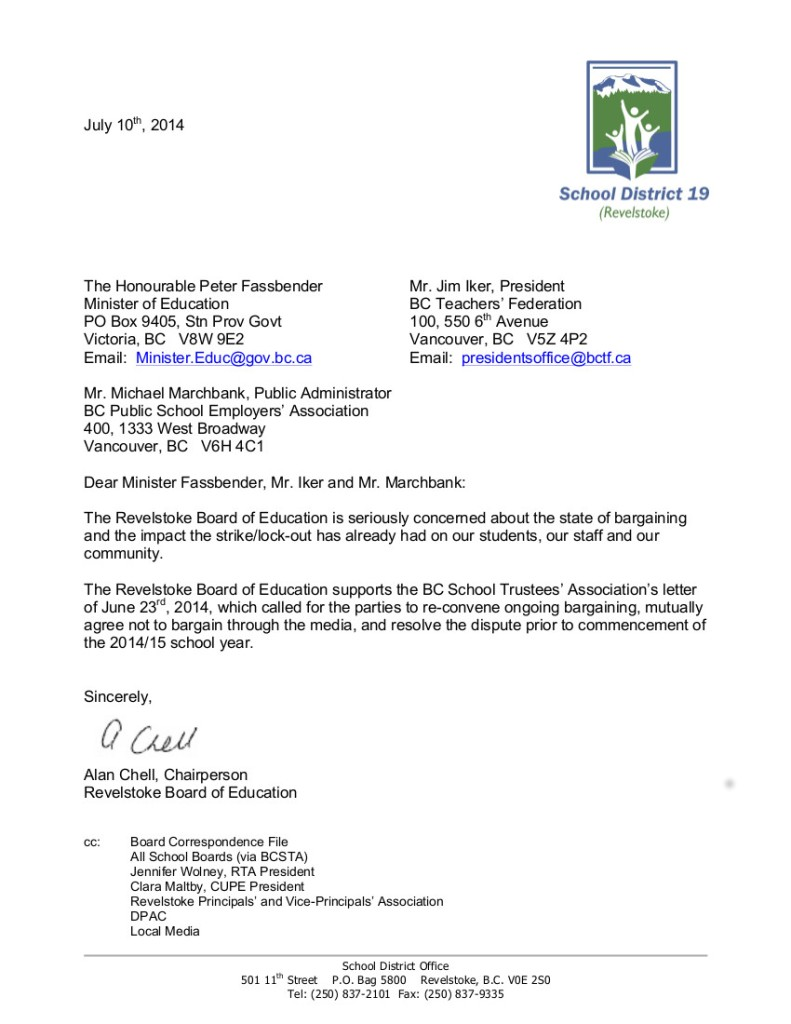 2014-07-10 A.Chell, SD19 to P.Fassbender, J.Iker, and M.Marchbank-- bargaining