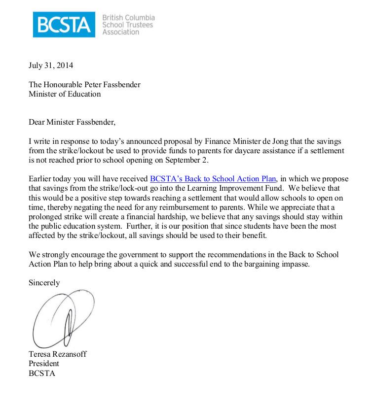 2014-07-31_Letter_MinisterFassbender_BTSAP