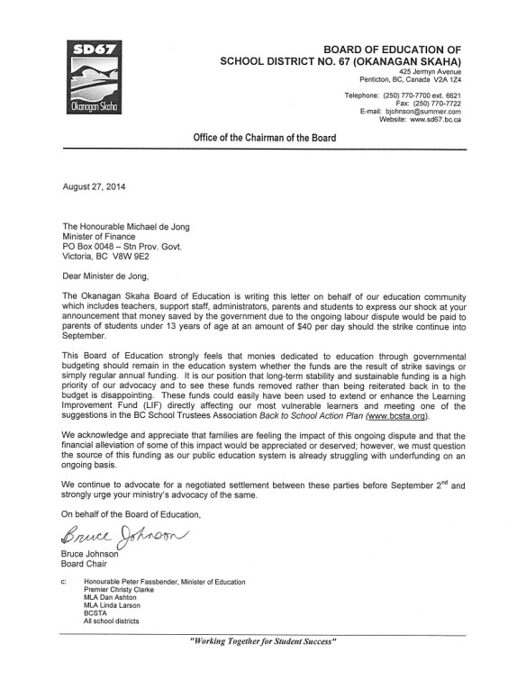 2014 August 27 SD67 Okanagan Skaha