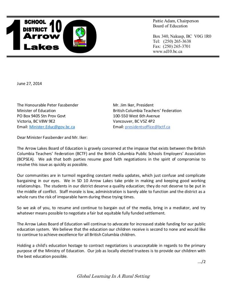 Arrow Lakes D10  June 27 1 P.Fassbender and J.Iker-- bargaining