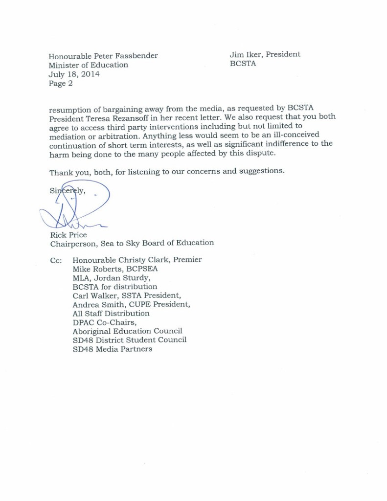 July 18 2014 SD48 2 to P.Fassbender and J.Iker-- bargaining