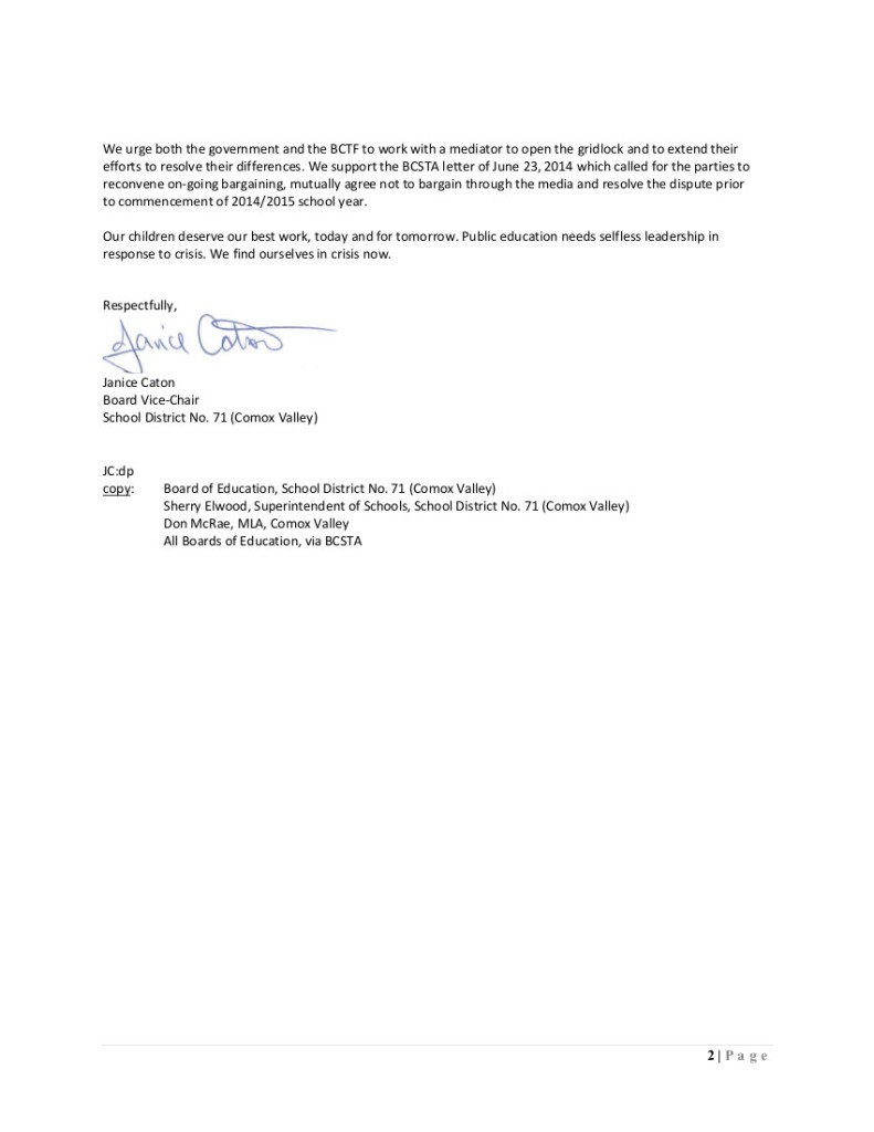 July 21 2014  SD71 2 to P.Fassbender, J.Iker, and M.Marchbank-- barg...