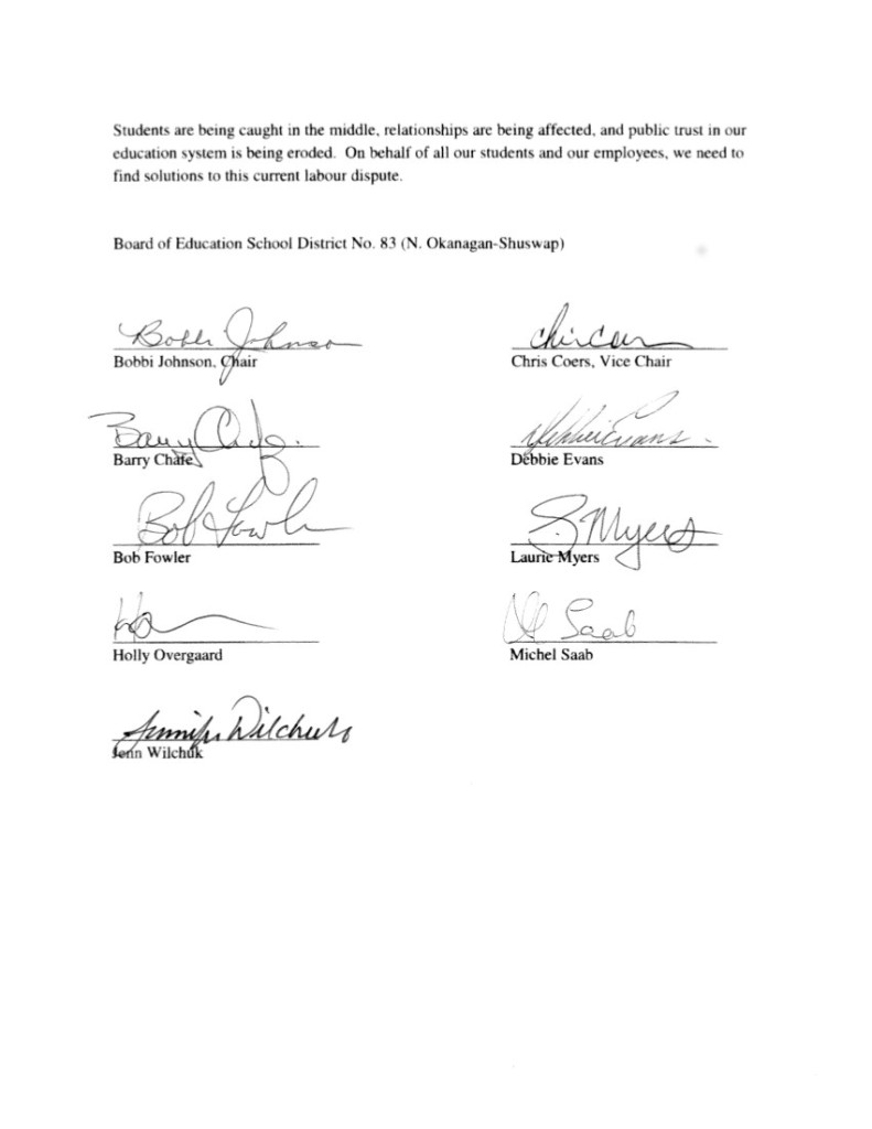 NOeth Okanagan Shuswap SD83  June 25 2 to P.Fassbender, J.Iker, and M.Marchbank-- bargaining