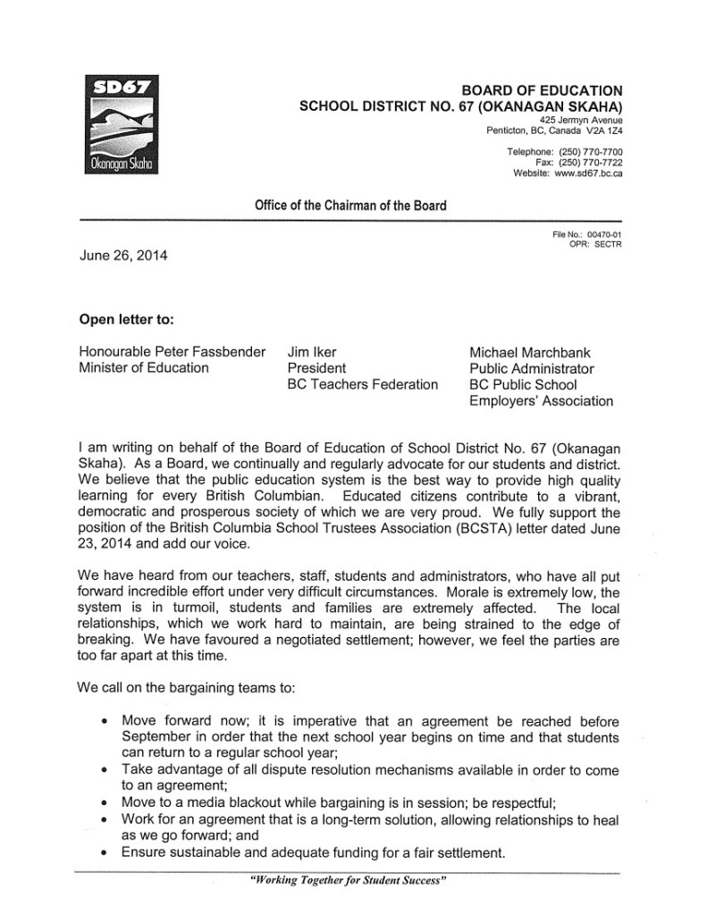 Okanagan Skaha SD67 June 26 1 P.Fassbender, J.Iker, and M.Marchbank-- bargaining