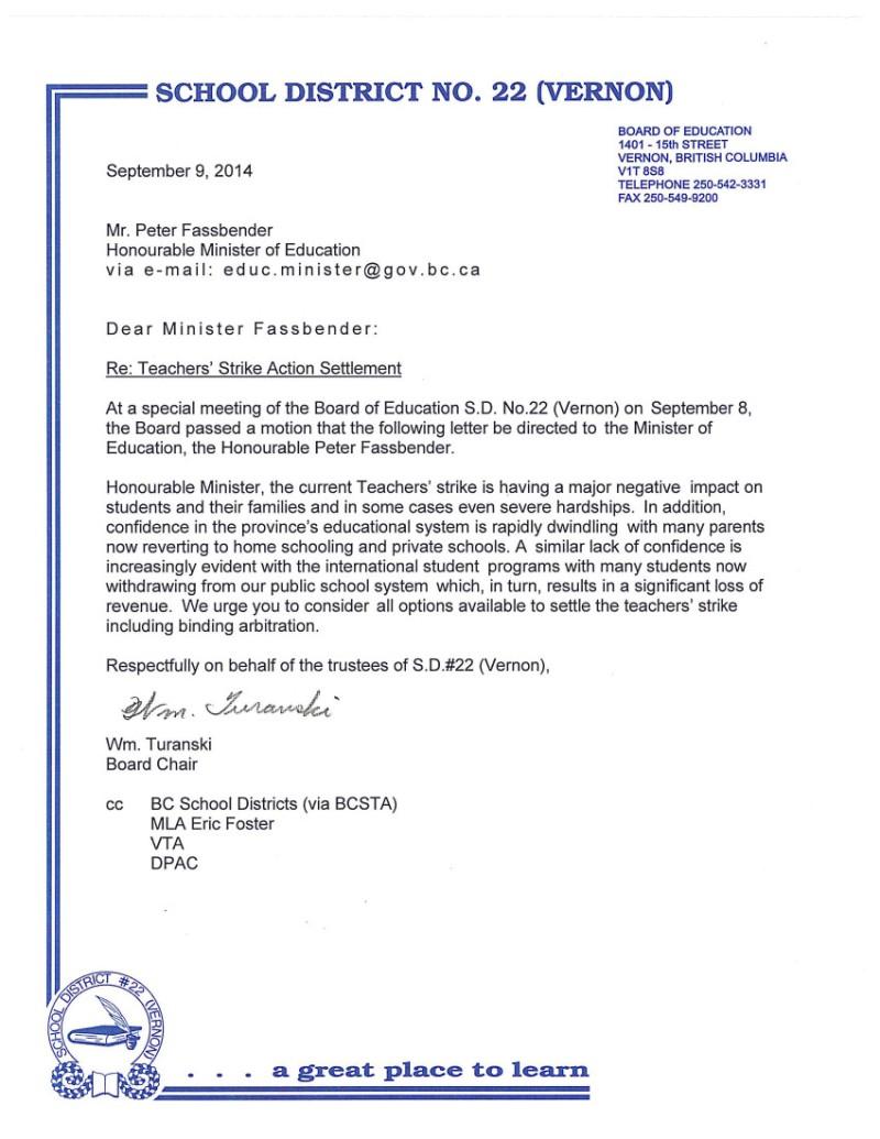 2014 Sept 10  SD22  bargaining, strike