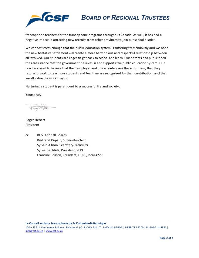 2014 Sept 16 SD93 bargaining, strike 2
