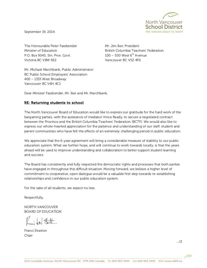 2014 Sept 19 SD44  bargaining, settlement