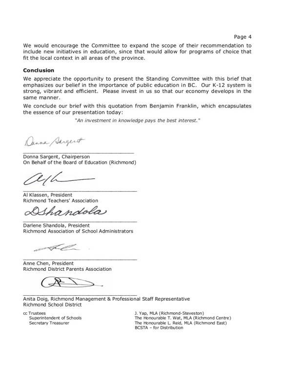 8 2014-10-16 SD38 Richmond to Select Standing Committee on Finance and Government Services-- SSCFGS submission 4