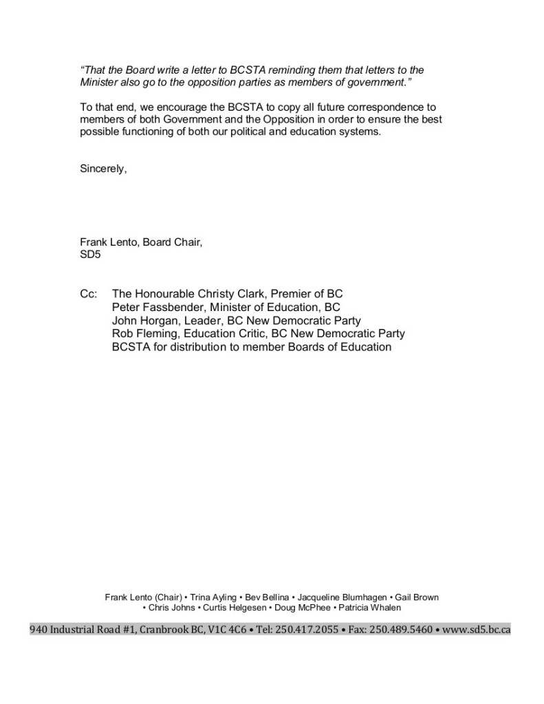 2 2015-02-12 D5 request for BCSTA advocacy letters to include Opposition 2