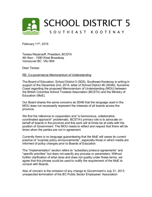 5 2015-02-12 SD5 Co-governance Memorandum of Understanding 1