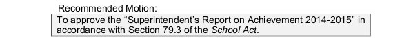 achieve report motion