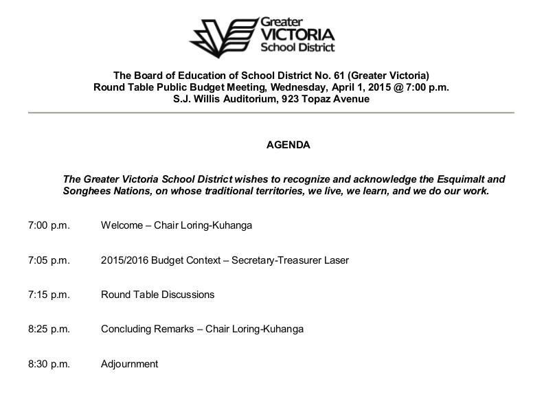 Budget April 1