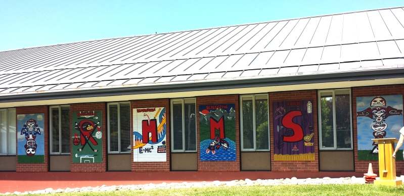 Rockheights Middle School Murals: Students and  Artist /Designer Collaboration