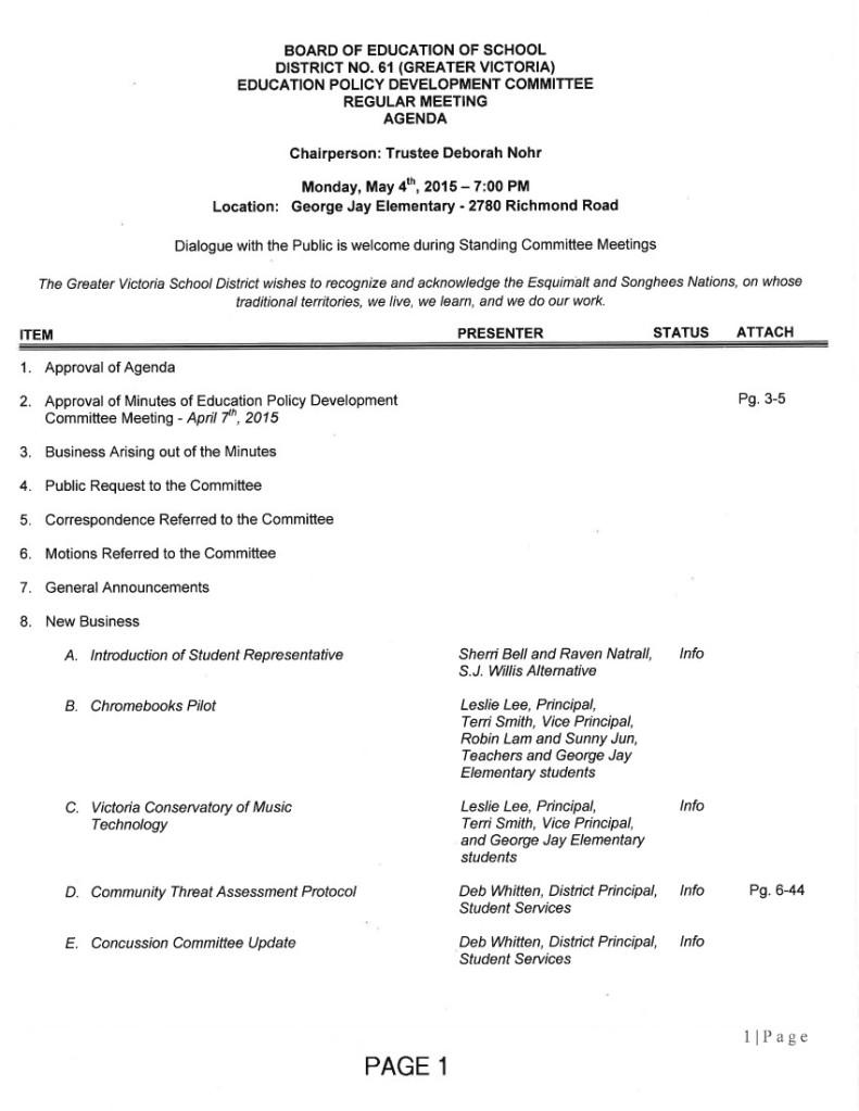 Education-Policy agenda 1