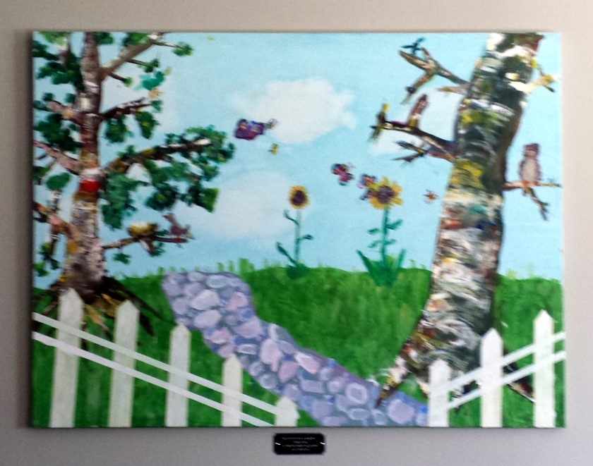Sweet painting by Gr2 students at Board Office