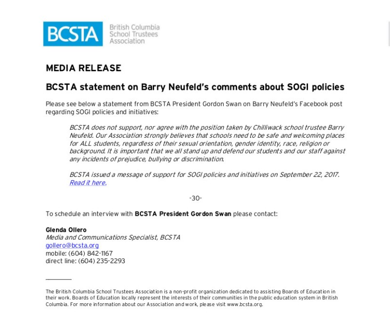 2017-10-24-Media_Release_BCSTA_statement_on_Barry_Neufeld