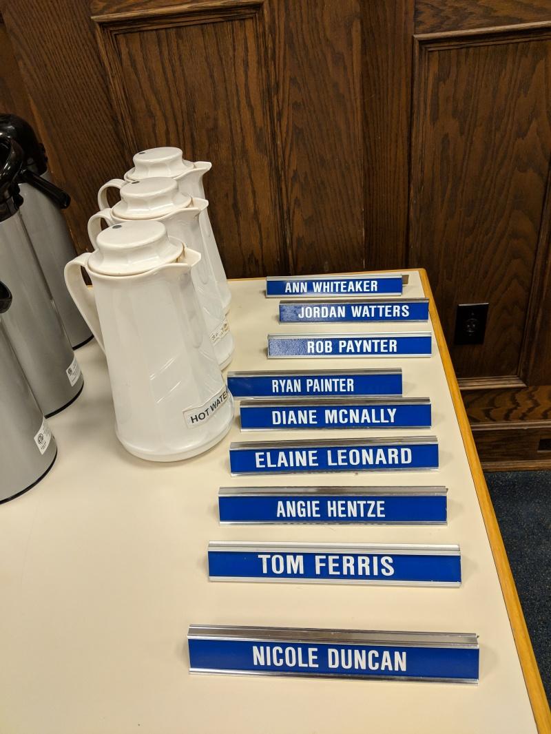 2018 11 05 Board names