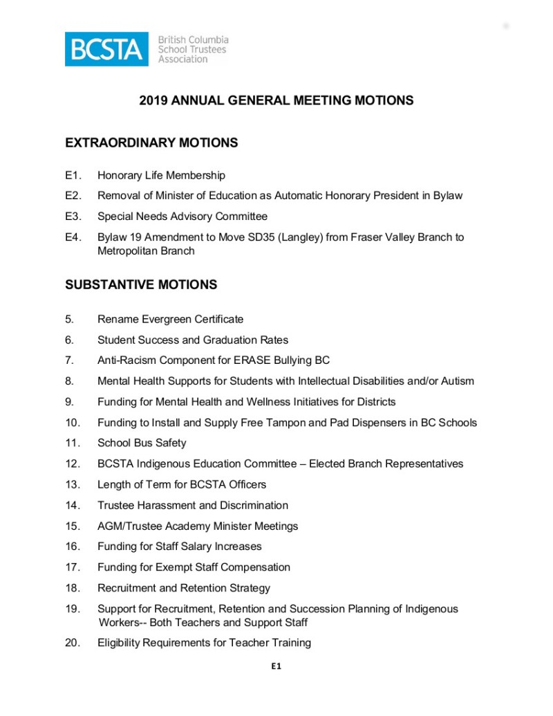 1 2019 AGM Motions Compiled-Final