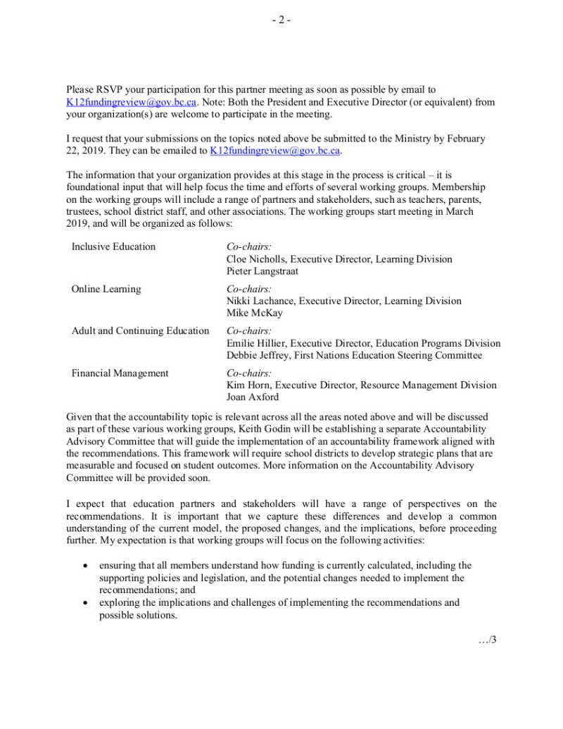 2 2019-01-22 RFleming to Ed Partners response re