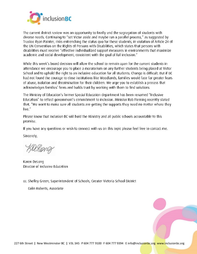 Letter - Victor School March 2019 2